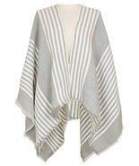 7 Seas Republic Women's Striped Grey Ruana Wrap - $23.99