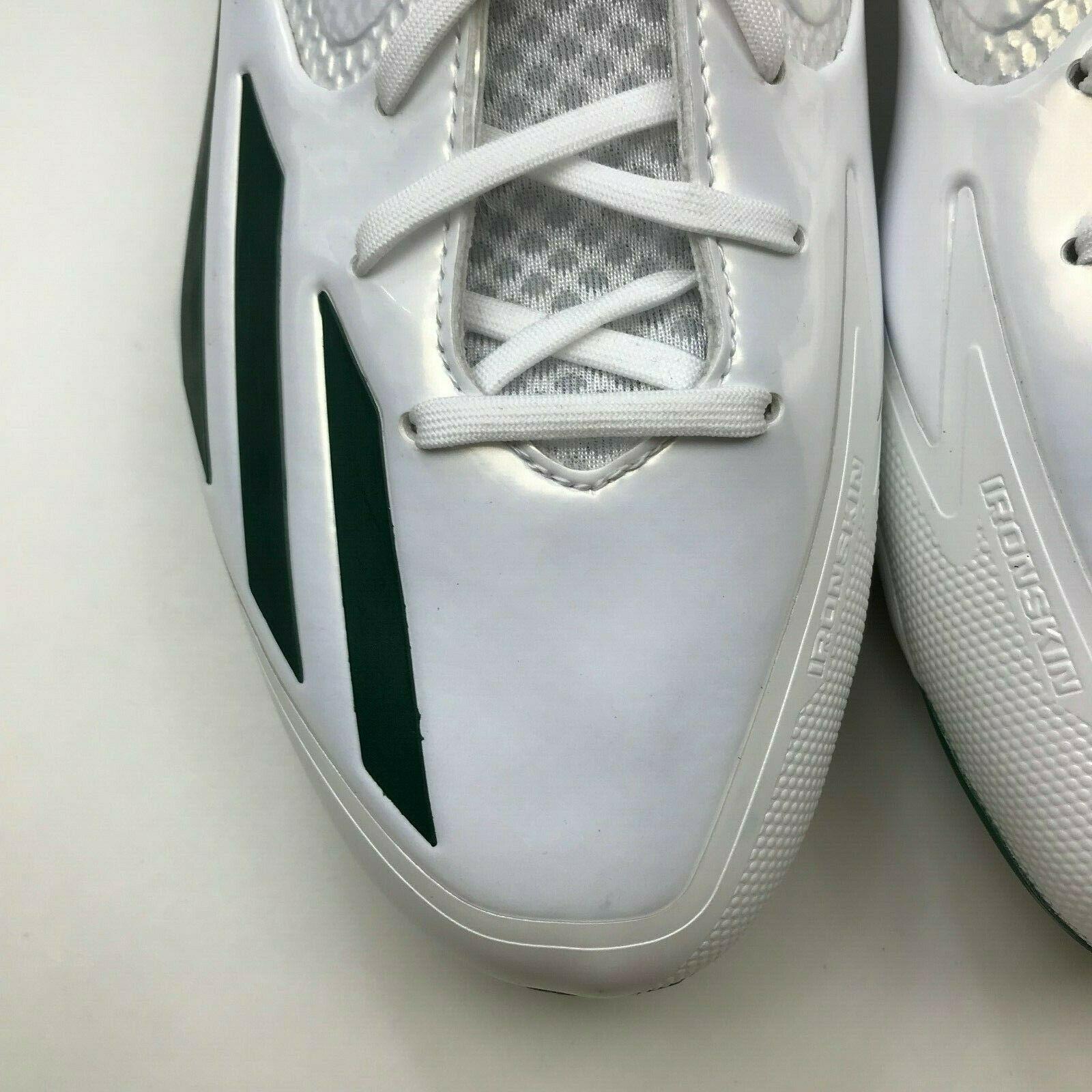 Adidas Mens Baseball Cleats Green White Lace and 50 similar