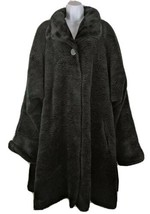 Gallery Vintage Long Coat Womens Jacket Size 2X Black  - $59.39