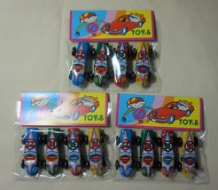 """TWELVE Pieces Vintage Tin Toy New 1.5"""" Bean Size Race Cars Made in Japan - $7.87"""