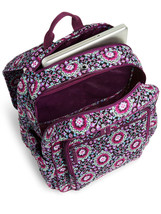 Vera Bradley Signature Cotton Campus Tech Backpack, Lilac Medallion image 3