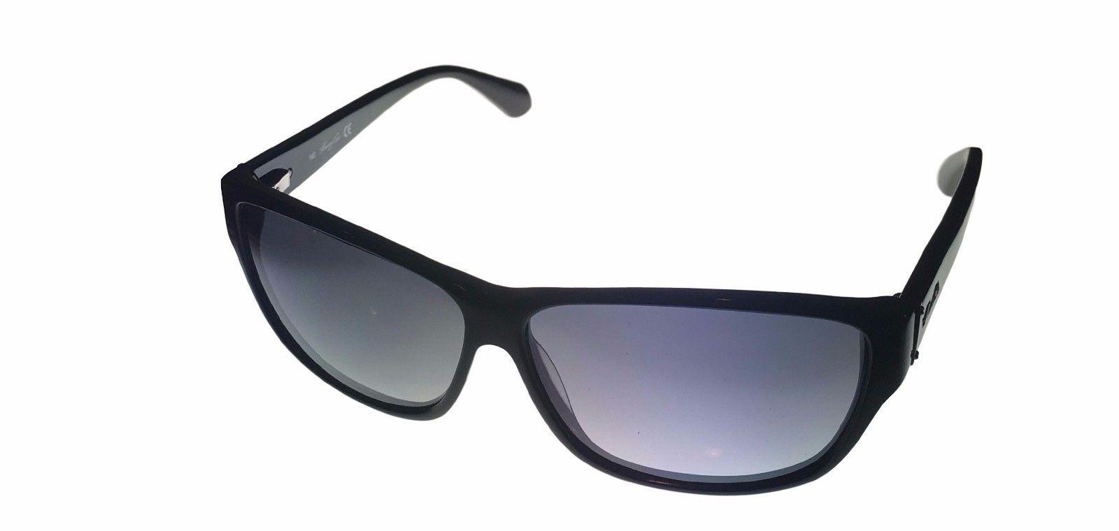 Kenneth Cole New York Mens Sunglass Soft Square Black, Smoke Lens KC7034 1B
