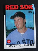 1986 Topps #661 Roger Clemens Boston Red Sox Blue Streak Error Baseball Card - $150.00
