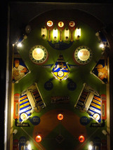 Gottlieb Batter Up Pinball Machine LED Coffee Table & Side Table Functional Art - $590.03