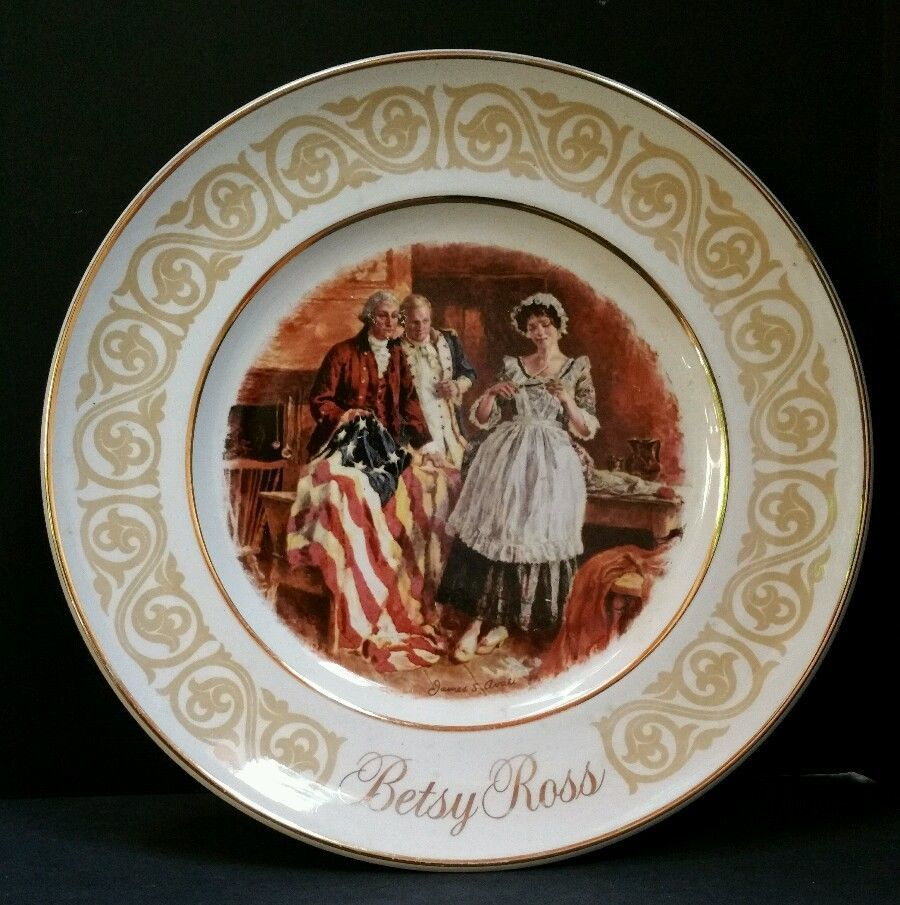 1973 Avon Betsy Ross 9 Inch Collectible Plate By Enoch Wedgwood England Tunstall