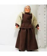 Dressed Victorian Granny Doll 1159 Beige Shawl Caco Flexible Dollhouse M... - $39.20