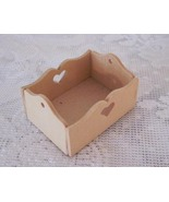 Miniature Doll House Unfinished Wooden Crate Pennsylvania Dutch Craft - $6.00
