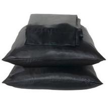 Black 2pc Charmeuse Satin Pillowcase Set Standard Queen - $9.99