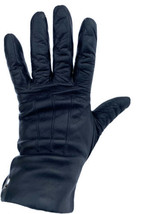 COACH Black Soft Leather Women's Driving Gloves Stiching w/ Cashmere Lin... - $56.09