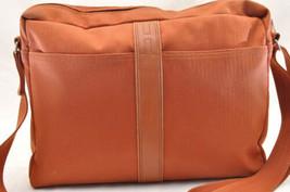 HERMES Acapulco Besace Coton Leather Orange Shoulder Bag Auth 5186 image 2