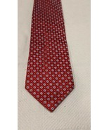 PRESWICK & MOORE  Red TIE Check Pattern NECKTIE 100% SILK - $9.80