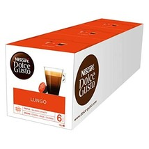NESCAF DOLCE GUSTO Lungo Coffee Pods, 16 Capsules (Pack of 3 - Total 48 Capsules - $36.00