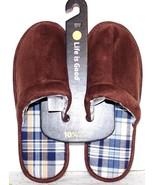 ❤️LIFE IS GOOD Chestnut Brown Men's Slide Comfort Slipper Medium 9.5 NEW... - $14.24