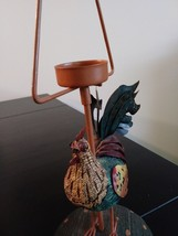 Unique Metal/Ceramic  Rooster Candle Holder image 1