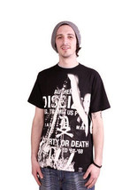 Dissizit Mens Black Chandelier Swinger T-Shirt Vintage Hip Hop HTF NWT