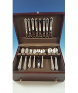 NEW SET OF PYRAMID STAINLESS STEEL BY GEORG JENSEN SERVICE FOR 8 - $1,030.00