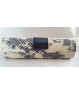 Cinzia Black/Cream Snake Hard Reading Glasses Case With Magnetic Closure - $9.99