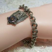 Vintage Enamel 1942 American Legion Sterling Silver Basketball Charm Bracelet - $46.52