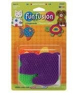 Perler Fun Fusion Pegboards 4/Pkg-Dog/Fish/Cat/Turtle, 22634 - $7.95