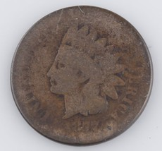 1877 INDIAN HEAD CENT AG+ VERY RARE KEY DATE!!! FULL 4 DIGIT DATE!! - $494.99