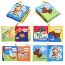 Kids Baby Intelligence Development Cloth Learn Cognize Book Educational ... - $12.99