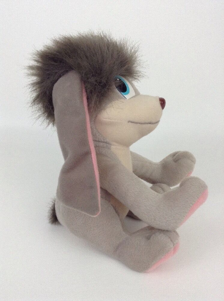 "Anastasia Pooka 12"" Applause Gray Dog w Flapping Ears Plush Toy Vintage 1997 Fox"