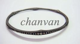 Antique Look 1.20Ct Rose Cut Diamond Oxidized Sterling Silver Bracelet C... - $3.694,36 MXN