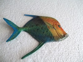 Tropical Fish Wall Plaque Tiki Bar Beach Pool Nautical Decor Size 6.5 in... - €8,80 EUR