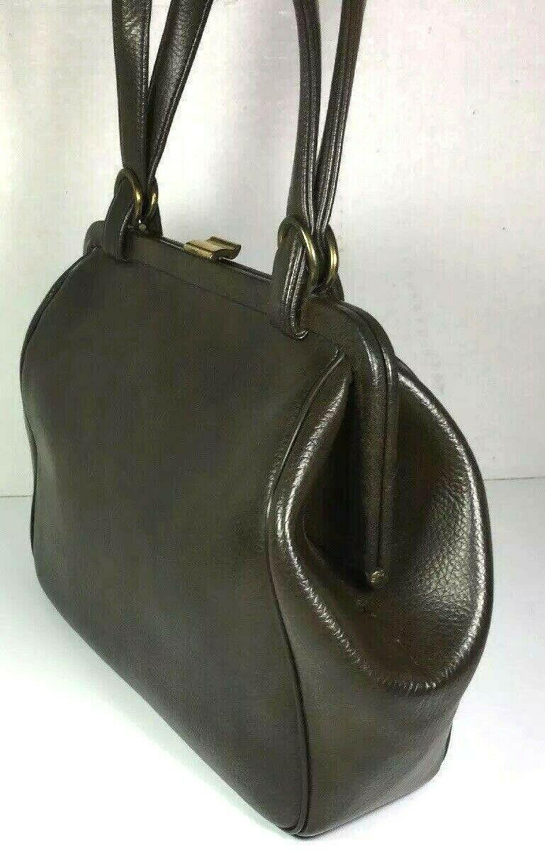 Garay True Vintage Brown Faux Leather Handbag