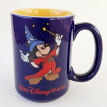 Walt Disney World Mickey Mouse Sorcerer's Apprentice Mug Blue Fantasia 12 Oz - $6.99
