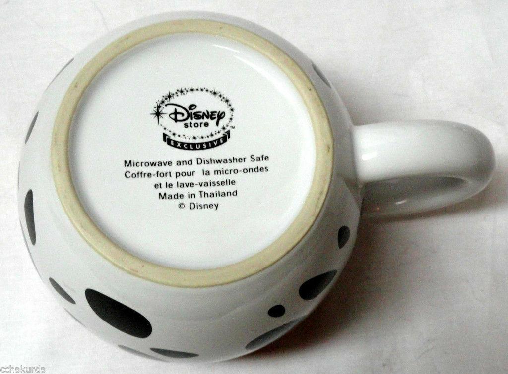 DISNEY Coffee Mug 101 Dalmations Puppy Pongo Red Collar Oversized Crazy Dog Daze
