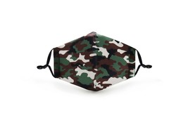 Camo Face Mask Military Washable Reusable POLYESTER/COTTON +2 filters - $13.99