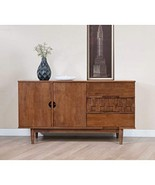 ModHaus Living Mid Century Modern 55 inch Sideboard Buffet with 2 Doors ... - $379.99