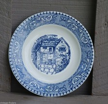 """Vintage Homer Laughlin 6"""" Bread & Butter Plate Shakespeare Country Blue Scroll - $9.89"""