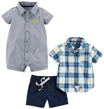 Simple Joys by Carter's Baby Boys' Infant 3-Piece Playwear Set, Chambray... - $25.33