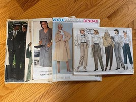 Vogue Vintage Patterns Lot Of 4; 1278, 1445, 2028, 1129 Sizes 42, 12/14/... - $69.30