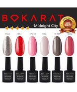 Bokarat Soak Off UV LED Gel Nail Polish 7.3ml x 6pcs Supper Set ~Midnigh... - $21.99