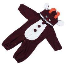 Cute Baby Bodysuit Infant Onesies Toddlers Romper Brown Deer For Creeping 12-18M