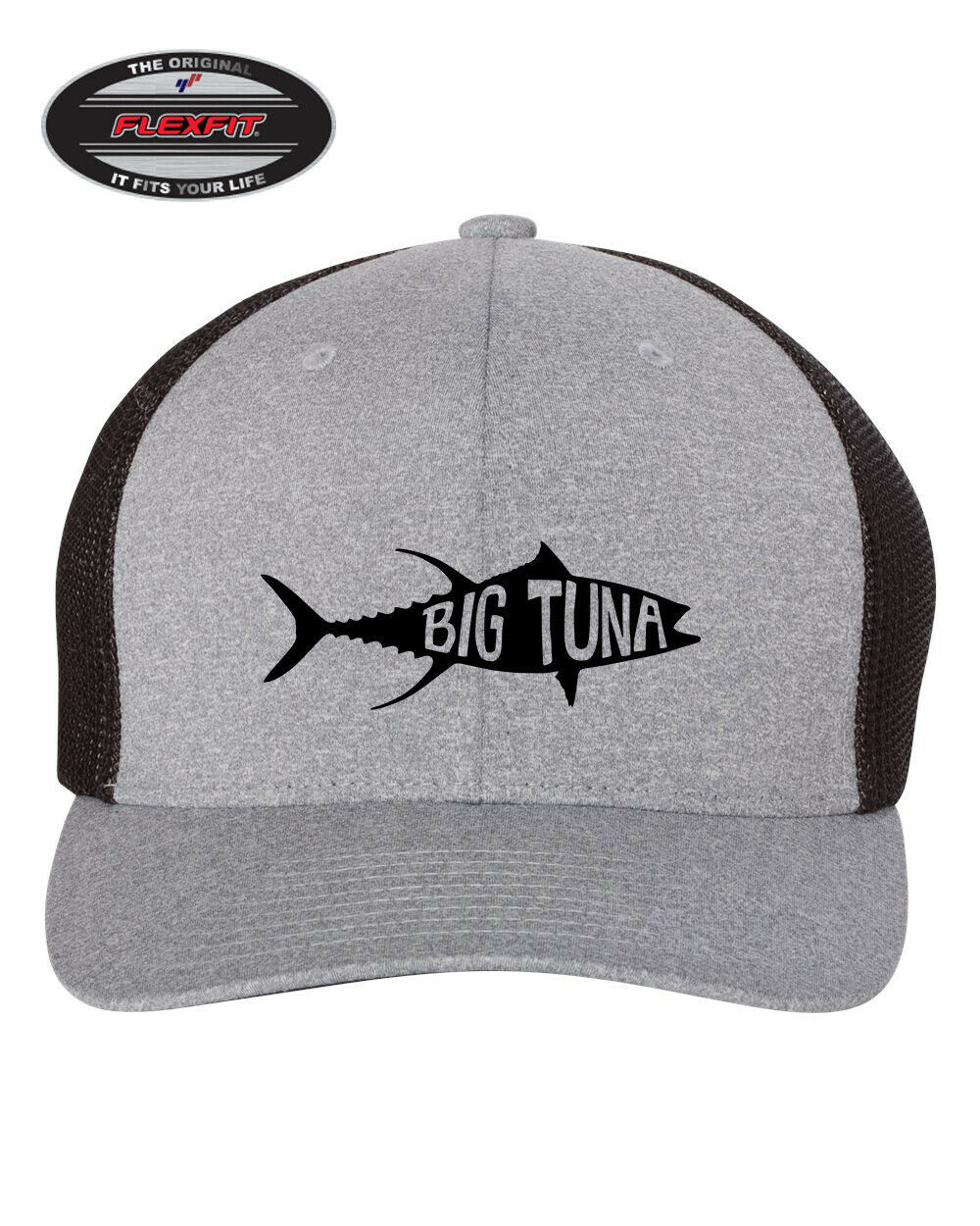 Primary image for BIG TUNA FISHING FISHERMAN FLEXFIT TRUCKER CAP WITH MESH  *FREE SHIPPING in BOX*