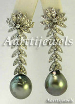Victorian 2.04ct Rose Cut Diamond Pearl Christmas Wedding Women's Earrings - $614.20