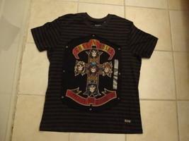 Guns N Roses Appetite For Destruction Stripe Heavy Metal NEW T Shirt L - $18.75