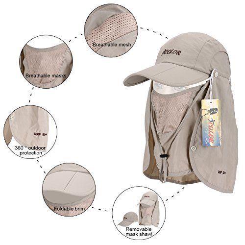 iColor Sun Caps Flap Hats UV 360° Solar Protection UPF 50+ Cap Shade Hat c4d52ca6d23d