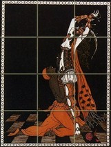 Nijinsky By George Barbier - 12 Tile Art Mural, Kitchen Shower Bath Backsplash ( - $84.00