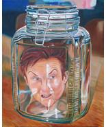 Rare Original David Wiemers - Anger Management- Comedic Art Painting - S... - $455.80