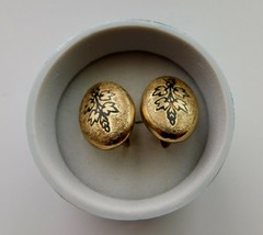 Antique Victorian Gold Filled Enamel Earrings Screw Back - $95.00