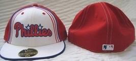 NEW ERA PHILADELPHIA PHILLIES FITTED HAT CAP 7 3/4 RED 59/50 NWT ALTERNATE - ₹1,969.48 INR