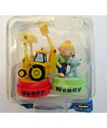 Bob The Builder 2001 Stamper Figures, Scoop & Wendy, Rose Art New, open ... - $6.70