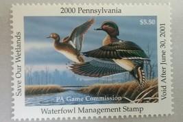U.S. (PA18) 2000 Pennsylvania State $5.50 Duck Stamp (MNH) - $10.88