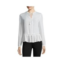 a.n.a Long-Sleeve Peplum Blouse Size S, XL New Crema Msrp $36.00 - $14.99