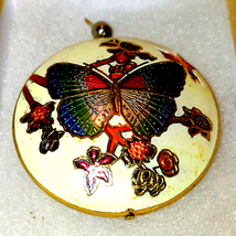 Vintage colossal butterfly pendant - $17.82